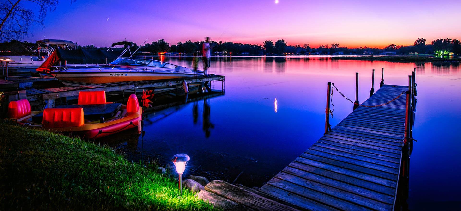 Sunset Craig Lake Coldwater Michigan